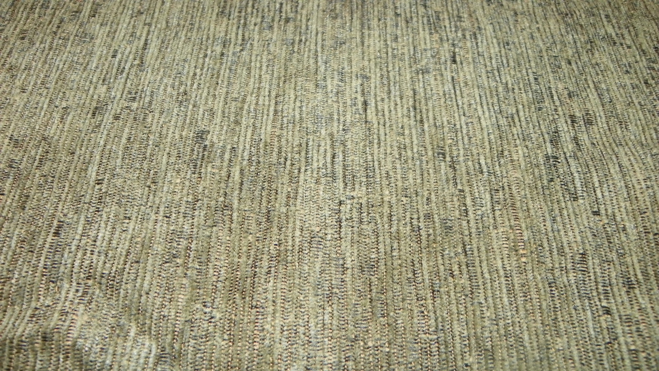 Green Stria Chenille Upholstery Fabric 1 Yard F676