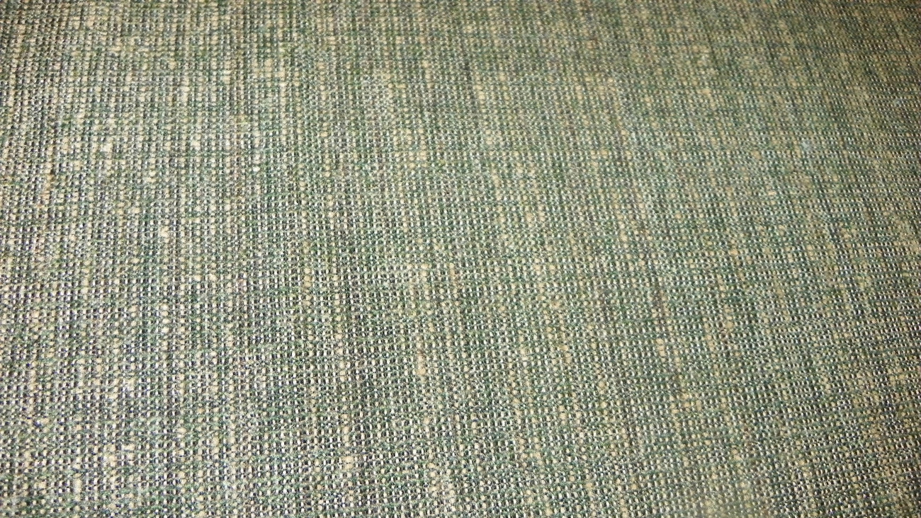 Green Tan Tweed Chenille Upholstery Fabric 1  Yard  R708