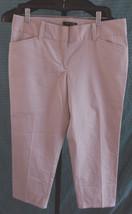 NWT Ann Taylor Signature Cotton/Tencel Khaki Capri Pants Misses Size 6 - $31.68