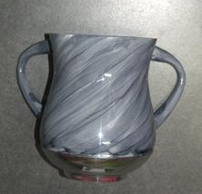 Judaica Hand Wash Cup Netilat Yadayim Last Water Aluminum Natla Gray Marble Look image 2