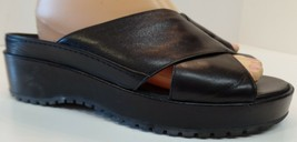 Cole Haan Black Leather Criss Cross Sandals Sz 8.5 Pre Owned Model F5921 - $39.59
