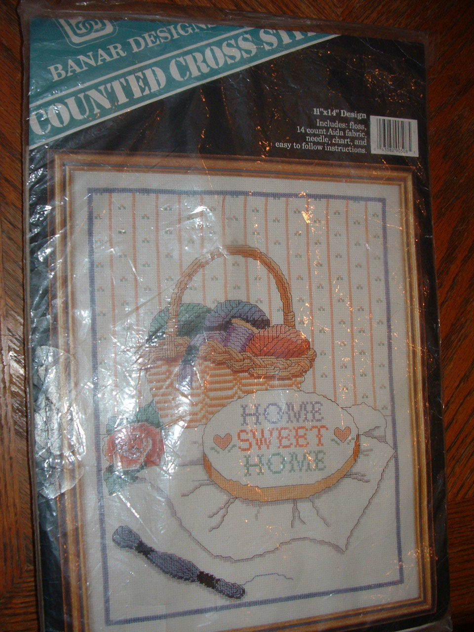 """""""Home sweet home"""" Counted cross stitch kit by Banar Designs"""