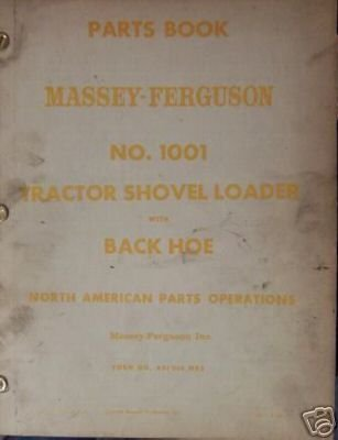 Primary image for Massey Ferguson 1001 Loader Tractor Parts Manual - 1959