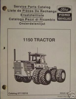 Primary image for Ford 1150 Articulated Tractor Parts Manual - NICE!!