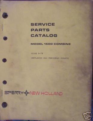 Primary image for New Holland 1500 Combine Parts Manual
