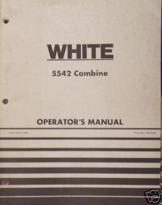 Primary image for White 5542 Harvest Boss Combine Operator's Manual