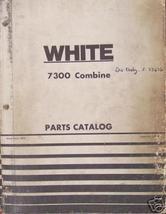 White, Cockshutt 7300 Combine Parts Manual - $28.00