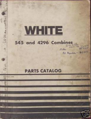Primary image for White, Oliver, MM  545, 4296 Combines Parts Manual