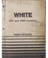 White, Oliver, MM  545, 4296 Combines Parts Manual - $44.00