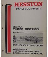 Hesston 2210 Field Cultivator Operator's and Assembly Manual S/N 00001-0... - $13.00