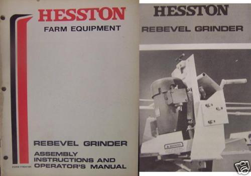 Primary image for Hesston Forage Harvester Rebevel Grinder Operator's Manual