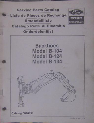 Primary image for New Holland B104, B124, B134 Backhoes Parts Manual