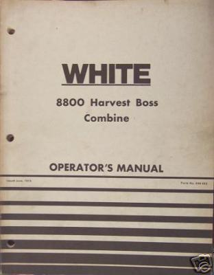 Primary image for White 8800 Harvest Boss Combine Operator's Manual