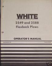 White 2588, 2549 Moldboard Plows Operator's Manual - $16.00