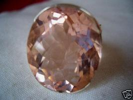 AMAZING CHECKER 22X18MM GORGEOUS MORGANITE RING avlb - $58.00