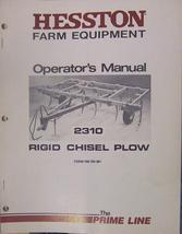 Hesston 2310 Rigid Chisel Plow Operator and Assembly Manual - $13.00