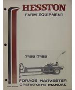 Hesston 7165 and 7155 Forage Harvesters Operator's Manual - $26.00