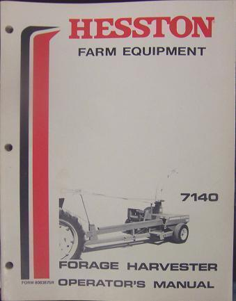 Primary image for Hesston 7140 Forage Harvester Operator's Manual