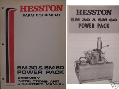 Primary image for Hesston SM30 and SM60 Hydraulic Generators Operator Manual