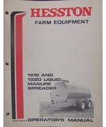 Hesston 1510, 1520 Liquid Manure Spreaders Operator's Manual - $13.00