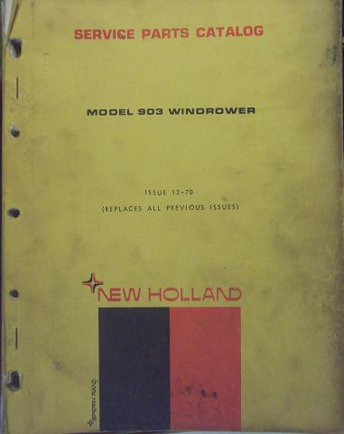 Primary image for New Holland 903 Windrower Parts Manual