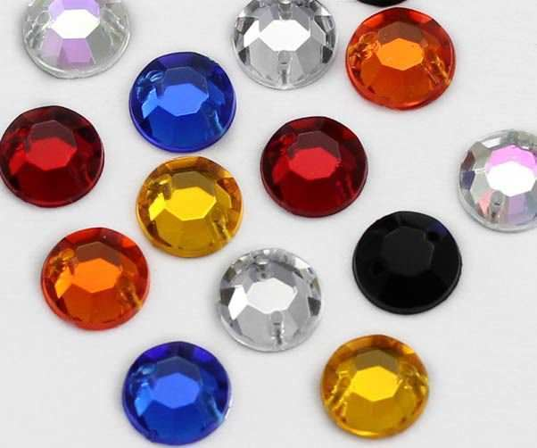10mm SS46 Crystal Clear H102 Sew On Rhinestones - 70 Pieces
