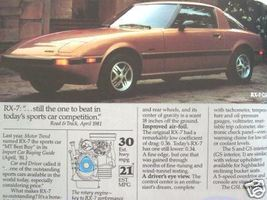1982 Mazda Cars Full Line Brochure - RX-7, GLC, 626 - $10.00