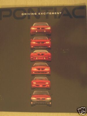 Primary image for 1998 Pontiac Full Line Brochure - Grand Prix, Bonneville, Firebird, and More