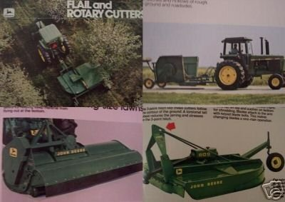 Primary image for 1980 John Deere Rotary & Flail Mowers Color Brochure