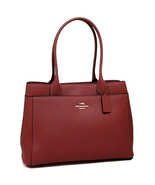 Coach Womens Cherry Red Crossgrain Leather Casey Tote Handbag Purse Bag ... - $321.26