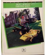 1992 John Deere F911, F925, F932, F945, F1145 Commercial Front Mowers Brochure - $8.00