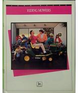 1990 John Deere GX70, GX75, SRX75, SRX95 Riding Mowers Brochure - $10.00