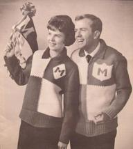 Vintage Mary Maxim Knitting Patterns Adult Pullover School Sweater Sizes 32   44 - $6.95