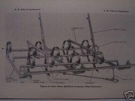 John Deere Harrow and Weed Destroyer Operator's Manual-1947 - $10.00