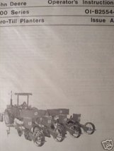 John Deere 1400 Series No-Till Planter Operator's Manual - $15.00