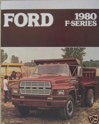 Primary image for 1980 Ford F-Series Medium Trucks Brochure - F600, F700, F800