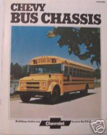 Primary image for 1974 Chevrolet School Bus Chassis Color Brochure