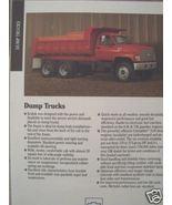 1992 Chevrolet Kodiak Dump Trucks Color Specs Brochure - $7.00