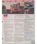 1994 Ford CF Series Cabovers Specifications Sheet - CF7000, CF8000, CFT8000 - $7.00