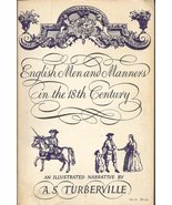 English Men and Manners in the 18th Century 1957 Galaxy Book - $10.00