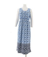 Liz Claiborne NY Geo Border Print Maxi Dress Navy PM NEW A262969 - $35.62