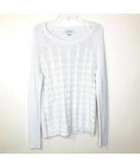 Liz Clairborne Chunky Ivory Silver Sweater Sz XL - $38.00
