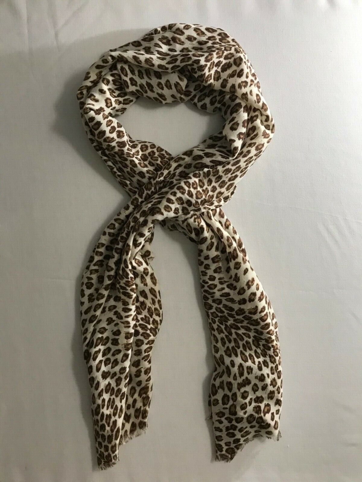 "Primary image for Leopard Print Silky Scarf 27"" x 72"" by Banana Republic"