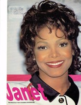 Janet Jackson teen magazine pinup clippings Red lips Tiger Beat