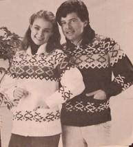 Vintage Mary Maxim Knitting Patterns ADULTS Chicopee SWEATER Sizes 32 - 36 - $6.95