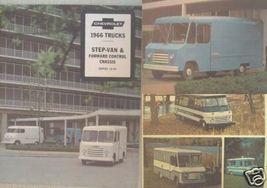 1966 Chevrolet Step Vans Original Color Brochure - $12.00