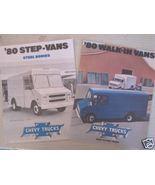 1980 Chevrolet Step Van Brochures - Lot of 2 Original! - $10.00