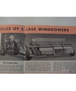 1950s Case B-12, B-15, AW-9 Windrowers Brochure - Accenting Color - Orig... - $10.00