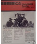 Case 2294 Tractor Specifications Brochure - Original - $9.00