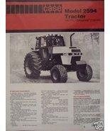 Case 2594 Tractor Specifications Brochure - Original - $9.00